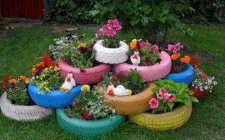 Фигурки для сада из шин — Своими Руками