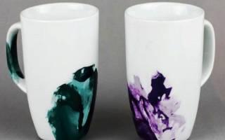 Как самостоятельно раскрасить чашку под мрамор — Своими Руками