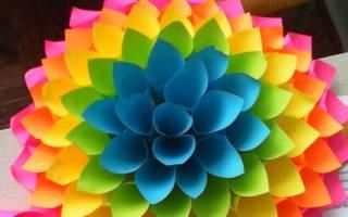 Объемный бумажный цветок — Своими Руками
