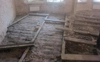 Подготовка основы для деревянного пола — Своими Руками