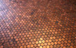 Пол из монет под эпоксидной смолой — Своими Руками
