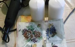 Изготовление и декупаж свечей — Своими Руками
