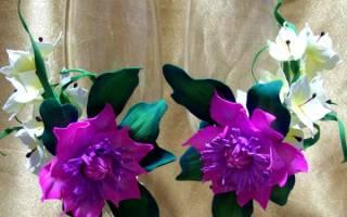 Украшению бокалов цветами гортензии и анемоны из фоамирана — Своими Руками