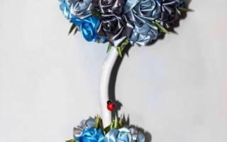 Розы на шаре – топиарий — Своими Руками