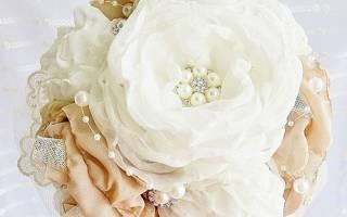 Цветок-брошь из шифона — Своими Руками