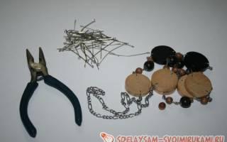 Бусы из старых деревянных шашек — Своими Руками