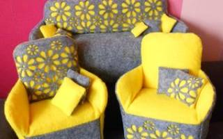 Королевский диван для куклы — Своими Руками