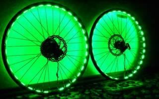 Подсветка колес велосипеда — Своими Руками