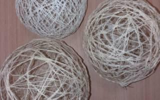 Новогодний шарик из ниток — Своими Руками