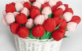 Тюльпаны из гофрированной бумаги — Своими Руками