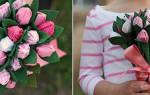 Букет с цветами из гофрированной бумаги — Своими Руками