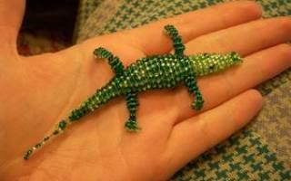 Брелок из бисера «Крокодильчик» — Своими Руками