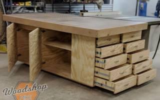 Простой рабочий стол с выдвижными ящиками — Своими Руками
