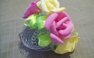 Украшения сетки для волос розами из фоамирана — Своими Руками